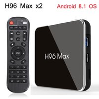 Wholesale android tv box play store online - H96 Max X2 GB GB Android Smart TV Box Amlogic S905X2 H p K fps USB3 Google Play Store Youtube H96Max