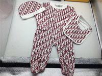 recém-nascido menino bebê roupas novo venda por atacado-Novo Macacão de Bebê Primavera Outono Roupas de Bebê Menino New Romper Algodão Bebê Recém-nascido Meninas Crianças Designer Macacões Roupas
