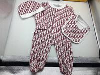 çocuklar için yeni rompers toptan satış-Yeni Bebek Tulum Bahar Sonbahar Erkek Bebek Giysileri Yeni Romper Pamuk Yenidoğan Bebek Kız Çocuk Tasarımcı Tulumlar Giyim