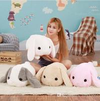 tavşan büyük doldurulmuş oyuncak toptan satış-1pc 40cm büyük uzun kulakları tavşan peluş hayvanlar oyuncak doldurulmuş tavşan yumuşak oyuncaklar bebek çocuk oyuncakları doğum günü hediyesi uyku