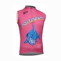 astana jerseys großhandel-ASTANA Team Radfahren Ärmelloses Trikot Weste neue Sommer Mountainbike atmungsaktiv schnell trocknend Männer Reithemden 71813