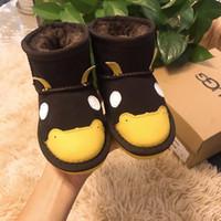 sıcak ayakkabılar hayvan bebeği toptan satış-Çocuklar Moda Boots Kış Sıcak Hayvan Desen Ayakkabı Çocuk Boy Kız Unisex Kar Boots Bebek Kayma-On Kar Boots 5 Stiller