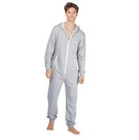 onesies adultos al por mayor-Rebajas de adultos Jumpsuits Onsies Ropa de dormir Sleep Lounge Pijamas de una pieza Monos de hombre Onesies encapuchados Unisex Onesies Bañador