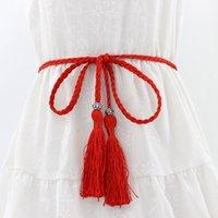 ceinture de corde tressée femmes achat en gros de-Nouvelles femmes Weave Belt Women Dress Décoration Ceinture Corde Femme Fine Tresse Mode Dames Casual Ceintures Ceintures Accessoires