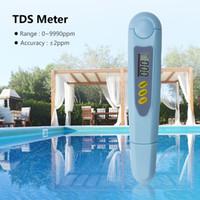 ppm tds metro al por mayor-Yieryi Venta caliente de alta calidad Digital TDS Meter Tester PH Calidad del agua 0-9990 PPM Filtro de pureza LCD Monitor de prueba