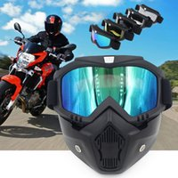 Wholesale goggles for open face helmet resale online - Modular Mask Detachable Goggles And Mouth Filter Perfect For Open Face Vintage Motorcycle Helmets Coolplay Mask