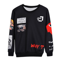 Wholesale summer paintings resale online - Pullover Classic Print Letter Hoodies Summer New Hooded Long Sleeved O Neck Men s Sweater