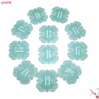 Wholesale laser cut table numbers resale online - 10pcs Wedding Table Number Cards Hollow Laser Cut Card Numbers romantic Wedding Decoration Place Cards Party Supplies ZZ19