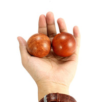 2pieces set 50mm 60mm Chinese Health Meditation Exercise Stress Relief Baoding Balls Wood Healthful Fitness Ball Relaxation Therapy
