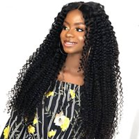 peruca curvada completa da onda venda por atacado-Cabelo Virgem malaio Glueless Full Lace Peruca de Cabelo Humano Kinky Curl Virgem Do Laço Do Cabelo Frente Perucas Encaracolado Para As Mulheres Negras
