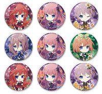 Wholesale wedding flower badge resale online - Manyun five equal flower wedding badge creative Nakano one flower four leaves three nines anime around Baji Badge pins zdl0225