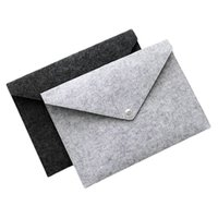 Wholesale a4 files folders resale online - 2019 Durable Button Folders Filing Supplies A4 Felt File Pocket Creative Portable Archival Bag School Office Articles ry C R