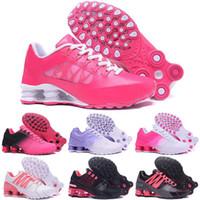 envío gratis nz al por mayor-Envío gratis niñas Wox Shox Shoes Pink Red Avenue entregar corriente NZ R4 901 TLX RZ OZ zapatillas de deporte de la gravedad tamaño 5.5-8.5