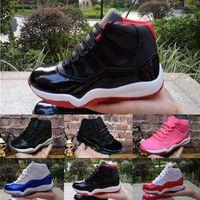 ingrosso ragazze blu scarpe bambino-Nike Air Jordan 11 Bred XI 11S Scarpe da pallacanestro per bambini Gym Infantile rosso Bambino toddler Gamma Blue Concord 11 scarpe da ginnastica boy girl tn sneakers Space Jam