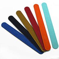 blocos de esponja venda por atacado-Professional lixa de unhas Amortecimento Polimento Bloco Polishing Nail Art Manicure Sponge Frustração Nail Art ferramenta RRA2539
