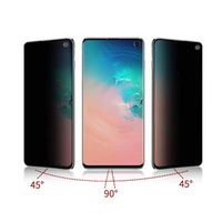Wholesale retail box packaging cover for sale - Group buy For Samsung E Plus Edge full cover Curved Privacy Anti Spy Anti Scratch Screen Protector Tempered Glass with retail box package