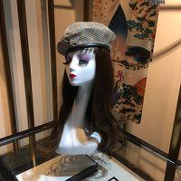 schwarze maler hut großhandel-Best Selling Herbst und Winter Retro Denim Blue Luxury Designer Baskenmütze literarischen einfachen Mesh-Hut Wild Black Painter Hat Flut