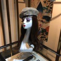 sombrero de pintor negro al por mayor-Otoño e invierno superventas Retro Denim Blue Luxury Designer Beret Literary Simple Mesh Hat Wild Black Painter Hat Hat Marea