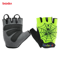 Wholesale child cycle glove resale online - BOODUN New Children Outdoor Bike Bicycle Gloves Wear resistance Cycling Gloves Kids Summer Bike Los guantes old