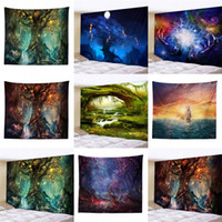 Wholesale sale printed towels for sale - Group buy Starry Sky Tree Tapestry Fantastic Landscape Multi Size beach towel Tapestries For D Popular Hot Sale Home Decoration rr UU