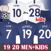 kit futbol achat en gros de-HOMMES + ENFANTS 19 20 Soccer Jersey Tottenham Hotspur Maillot de Football KANE NDOMBELE Maillot de foot 2019 2020 SON DELE ERIKSEN Nouveaux Spurs Futbol Camisa  Camisetas