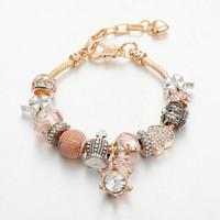 pulseiras de grama venda por atacado-2019 nova liga de moda Quatro folhas pulseiras de grama broca frisado pulseira DIY mulheres diamante beads pulseira pulseira amor acessórios de jóias