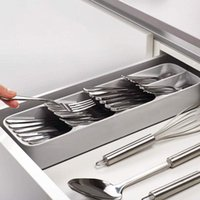 Wholesale kitchen drawers for sale - Group buy 1pcs Eco Friendly PP Kitchen Drawer Organizer Tray Spoon Knife Fork Cutlery Separation Finishing Storage Box Cutlery Organizer