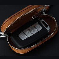 Wholesale bag parts accessories for sale - Group buy Car Multi function Leather Key Case Car Key Bag Security Parts For Most Of Auto Accessories