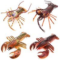 Wholesale lobster toys resale online - Lobster Model Solid Australian Boston Big Lobster vinyl Toy Decoration Children s Gift