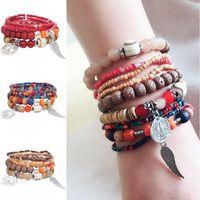 Wholesale boho beads for sale - Group buy 2019 Europe And America Fashion Boho National Wind Bracelets Creative Color Multilayer Stretch Rice Beads Bracelet Women Charm Jewelry