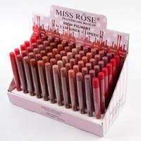 Wholesale rose lip resale online - Miss Rose Matte Lips Makeup Set Dobuble Side High Pigment in Lip Liner Lipstick Set