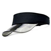ingrosso cappello di protezione solare di plastica-Visiera di plastica UV nuova visiera cappello da sole uomo Outdoor Clear Dealer da tennis cappello da spiaggia protezione Snapback Caps