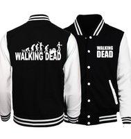 chaqueta muerta caminando al por mayor-Bomber Jacket For Men 2019 Nueva llegada Primavera otoño The Walking Dead Chaquetas Abrigo para hombres Plus Size S-5xl estilo suelto