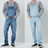 Wholesale vintage suspenders pants for sale - Group buy 2019 Vintage Denim Overalls Men Hip Hop Jeans Jumpsuit Man High Quality Suspender Loose Pants Streetwear