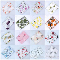 Wholesale space beds resale online - Baby Muslin Blanket Infant Flamingo Rose Space Print Cotton Muslin Blankets Bedding Infant Swaddle Towel For Newborns Swaddle Blanket DYP462