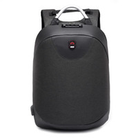 Wholesale back pack men for sale - Group buy 2019 new fashion inch Laptop backpack men Waterproof Backpack Casual Travel Business USB Back pack Male Bag Anti theft Gift