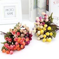 Wholesale orange colour flower resale online - High end pc cm Star Bud Rose DIY Colour Artificial Flower Rose Dried Flower Dry Birthday Wedding Home Bouquet