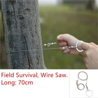 Wholesale hunting gear equipment resale online - Outdoor Stainless Steel Wire Saw Ring Scroll Cutter Saw Emergency Survival Gear Tool Hiking Hunting Climbing Camping Equipment