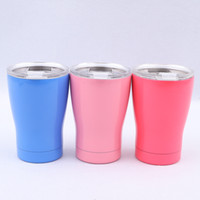 Wholesale 16oz bottles resale online - 16oz Stainless Steel Water Bottles With Lid Colors Insulated Outdoors Coffee Cups Portable Milk Tumblers Hot Sale jn E1