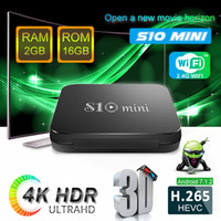 Wholesale best quad core android tv boxes for sale - Group buy Best selling android TV BOX S10 mini Amlogic S905W Quad core GB GB built in GWIFI H Smart box