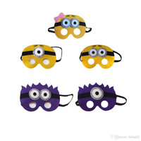 Wholesale minions gifts online - The Minions felt superhero Masks Small yellow girl Mask for kids Halloween Christmas costumes masquerade masks party favors gifts