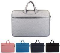 13 inç dizüstü evrak çantası toptan satış-Astar çanta Darbeye Su Geçirmez Macbook ipad hava pro için dizüstü Evrak çantası 13 14 15.6 inç laptop çanta tablet koruyucu kılıfları DN006