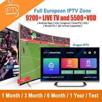 ingrosso box tv supporto-TV-Box IPTV Abbonamento Francia Stati Uniti Iptv Italia Regno Unito Germania CA arabo di sostegno Android Smart TV M3U MAG Box con 10000+ live 5000 + VOD