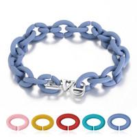 pulseras con cuentas de goma al por mayor-Hot 925 Sterling Silver LOVE Charm Beaded Bracelet 10 colores de goma Europea X pulseras de joyería para mujeres hombres joyería
