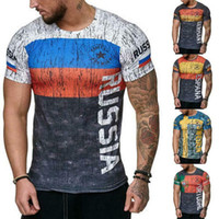 Wholesale germany t shirts online – design Details about Men s Letter Russia Sweden Portugal Germany Print Gym Sports T Shirt Slim Fit