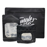 Wholesale free stickers resale online - Jungle Boys Smell Proof Bags with ChildProof Jungleboys Bag Stand Up Pouch Dry Herb Vaporizer with Sticker DHL Free