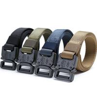 cinturón de lona niños al por mayor-2.5 cm moda niños diseñador cinturones niños estudiantes al aire libre entrenamiento militar Cinturones Lona de nylon Cinturones tácticos Niños Cinturones de rendimiento