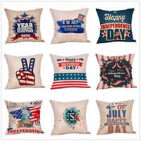 travesseiros bandeira venda por atacado-bandeira americana impressão Estrelas Stripe fronha Carta fronha 45 * 45 centímetros Sofá sesta capas de almofadas Decoração 51 estilos MMA1742-1