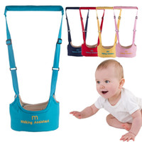 Wholesale baby belt walk resale online - Baby Walking Wings Candy Color Baby Harness Assistant Learning Walking Kids Walker Baby Belt Child Safety Learning Walk HHAA612