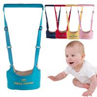 arnés de seguridad para bebés al por mayor-Baby Walking Wings Color caramelo Arnés para bebé Asistente de aprendizaje Caminata para niños Walker Cinturón para bebé Seguridad para niños Caminata de aprendizaje HHAA612